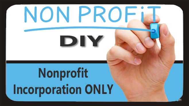 DIY: Nonprofit Incorporation ONLY Setup