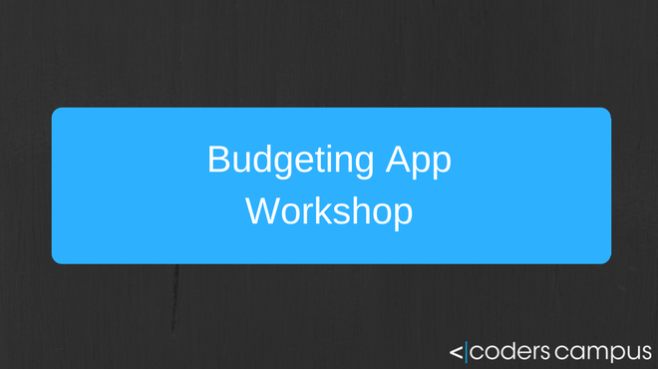 Budgeting App Workshop